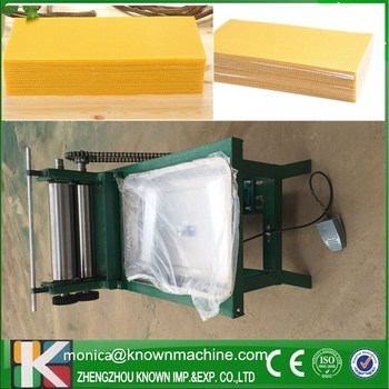 Electric type beeswax foundation presser machine on sale