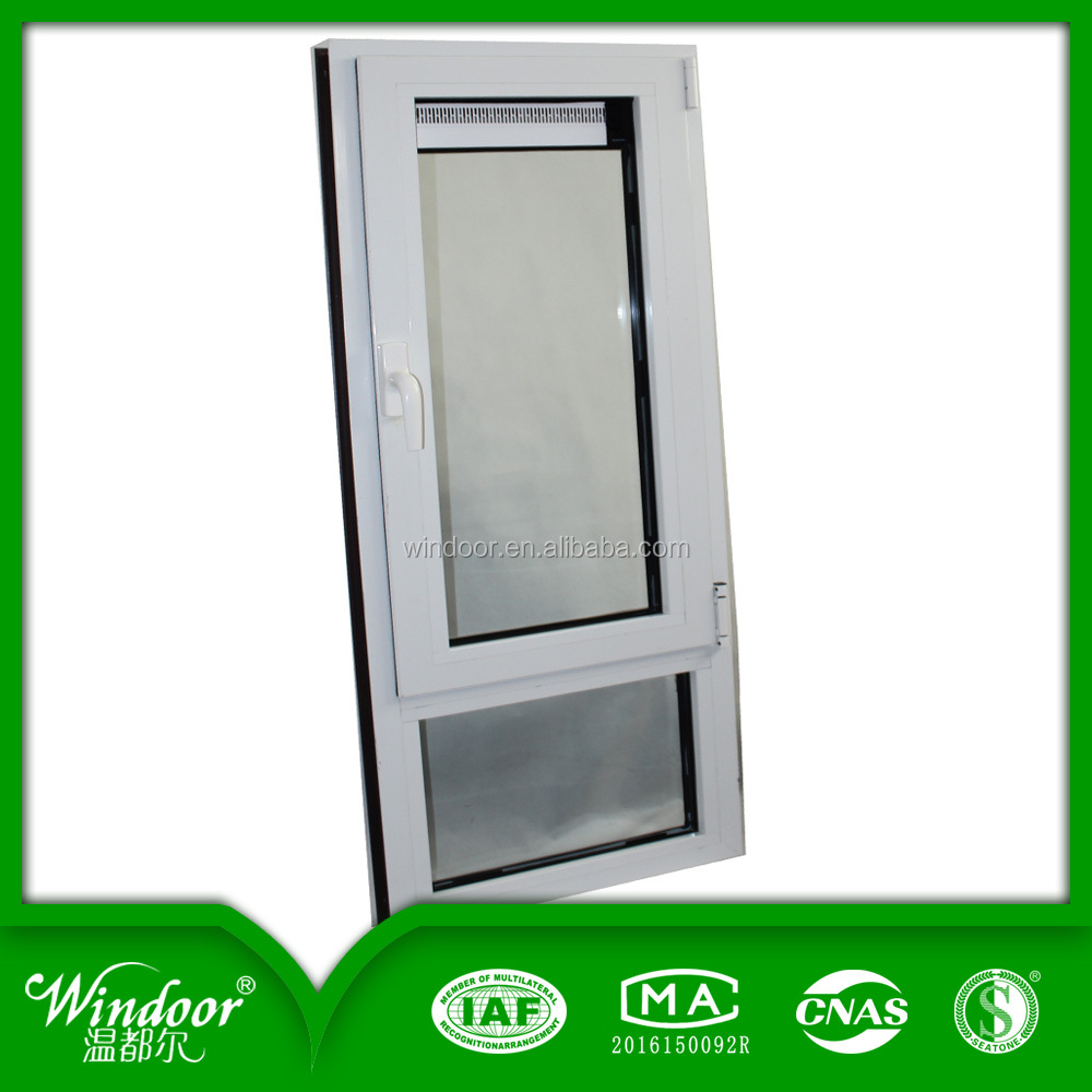Customize White Beveled Glass Upvc/ Pvc casement Door For room