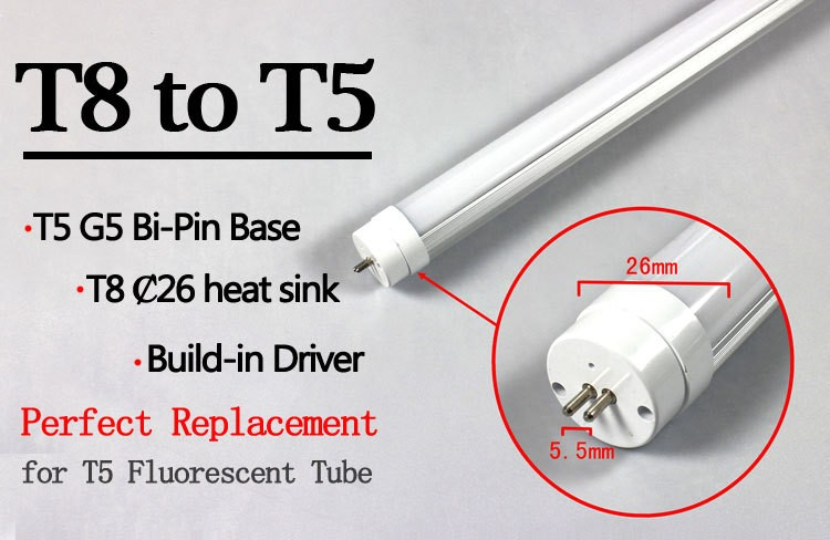 T8 to T5 Converter 120cm 150cm 18W 24W led tube t5