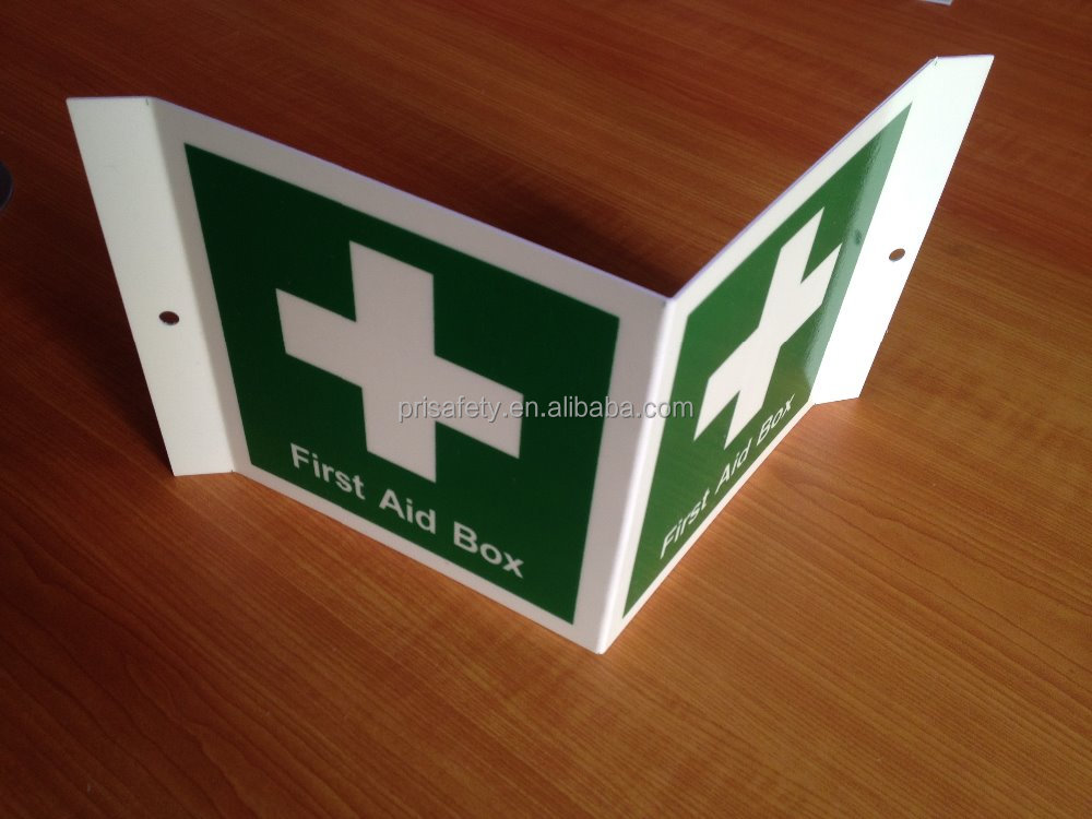 Reflective fire and safety signs luminious signs First aid kit