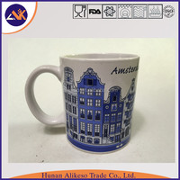 China factory supply cheap bulk stoneware ceramic coffee/tea mugs with handle for home, hotel or restaurant