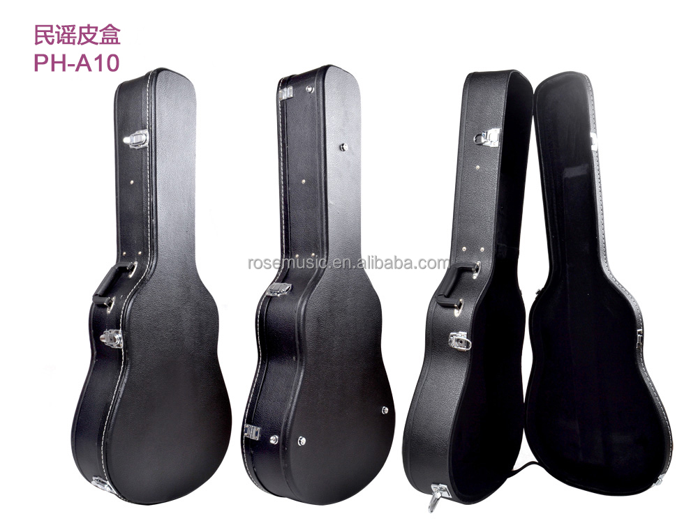 Fashionable cheapest & high quality acoustic guitar leather case