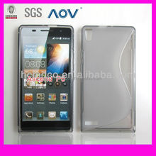 Slim Solid Color Quicksand Hard Case for HuaWei Ascend P6, for Huawei Ascend p6 Case