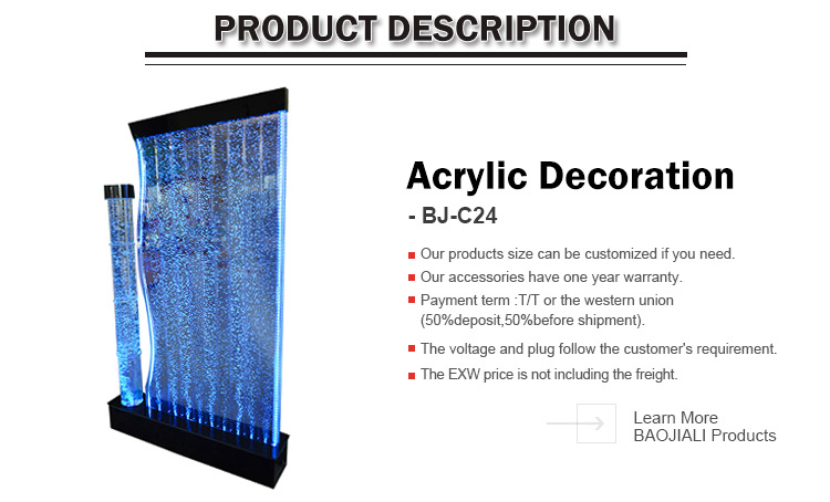 Hot wholesale Lowest price panel acrylic water bubble wall