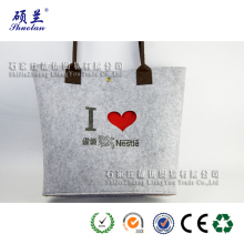 New design big felt tote shopping bag
