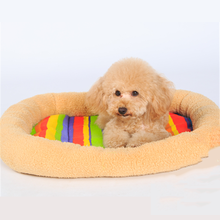 New Fashion Eco-friendly rainbow-stripe pet beds for small animals
