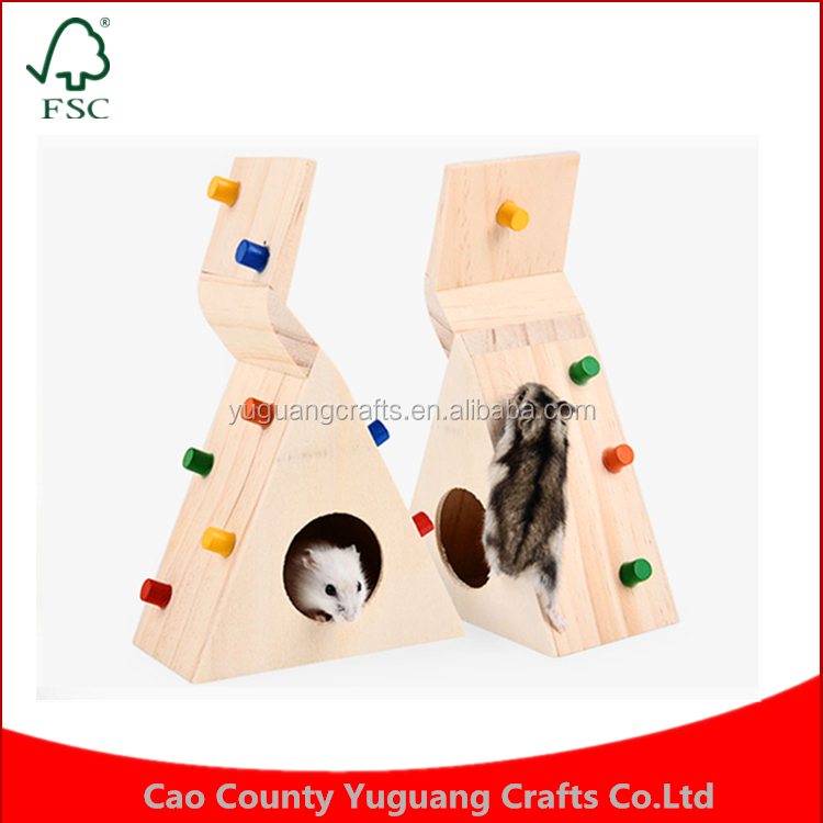 Hamster house Can rock climbing sports leisure Small pet Wooden toys cage