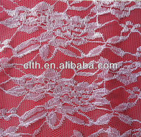 Large peony flower polyester lace fabric bulk lace fabric