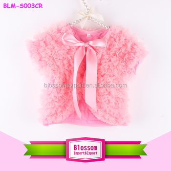 New style top quality solid pink color wholesale baby chiffon shawl for girl