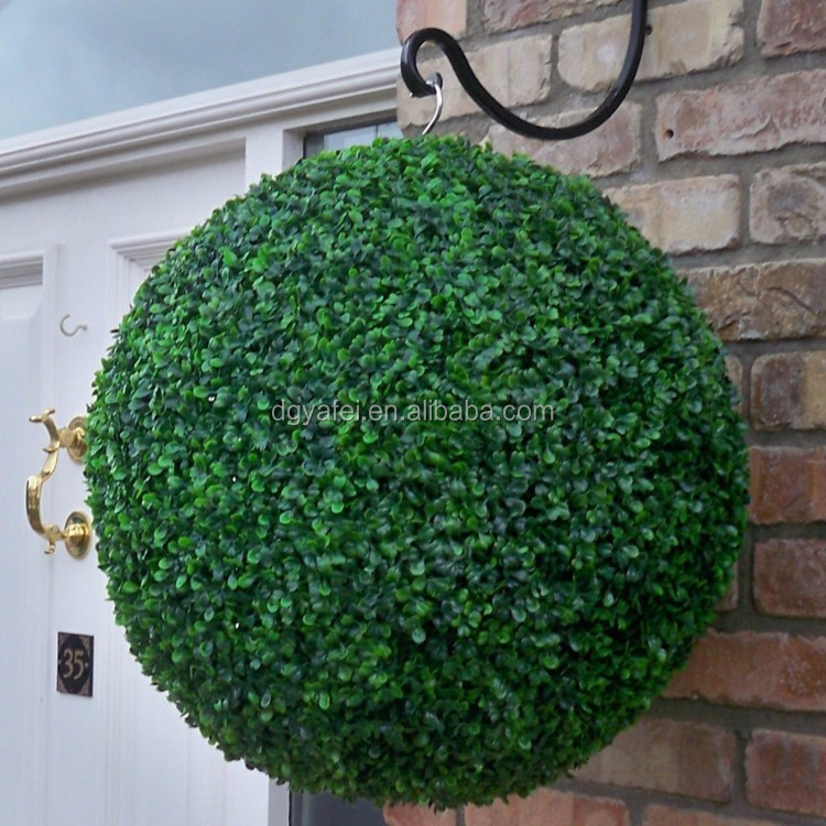 Air suspension show artificial grass ball for home decoration