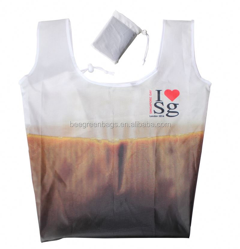 Waterproof Nylon tesco shopping bags with string pouch