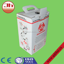 Free sample waste sharps cardboard box/sharps container /medical paper cardboard boxes