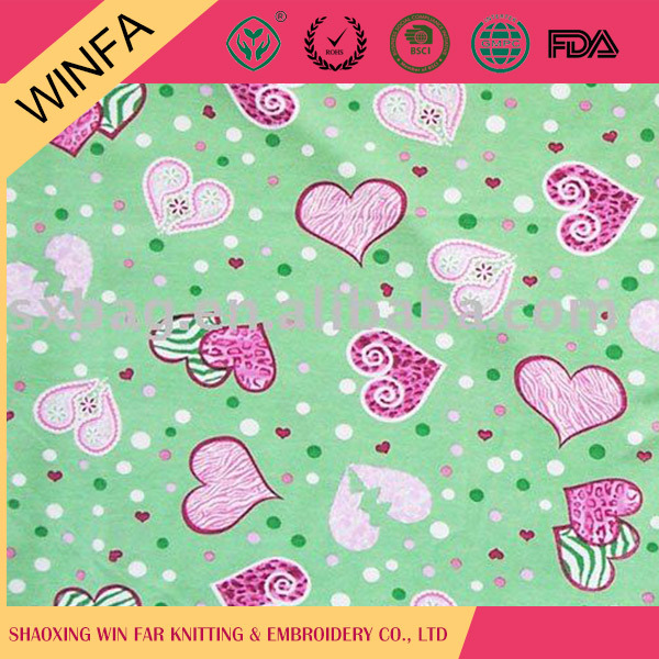Beautiful Knitted 100% polyester digital printing single jersey fabric for sale