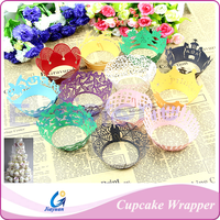 Wedding Suppliers Colorful Laser Cut Cupcake Wrapper