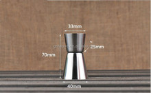 Promotion stainless steel jigger,stainless steel jigger /Peg Measure,15/30ml Stainless Steel Measuring Cup Shot Glass