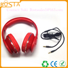 High end new coming famous brand factory professional gold cable headphones