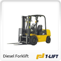 2.5 ton clamp forklift truck with diesel engine