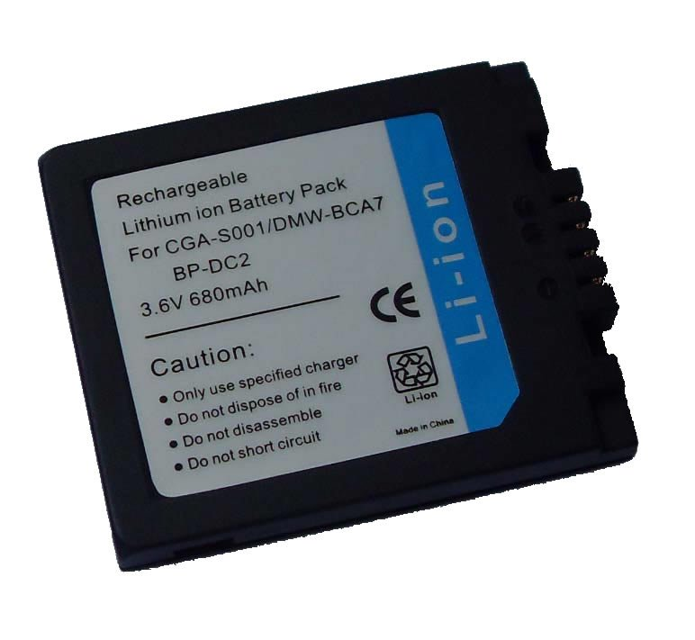 Replacement camera battery for Panasonic CGA-S001 DMW-BCA7 / Leica BP-DC2