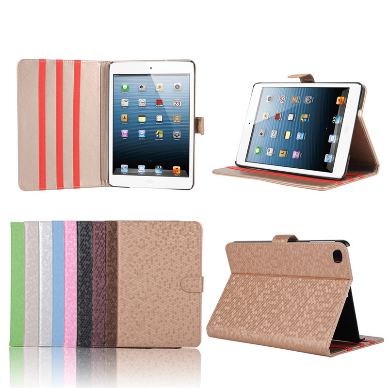 Factory Price Football Pattern PU Leather Case for iPad Mini 4, For iPad Mini 4 Case