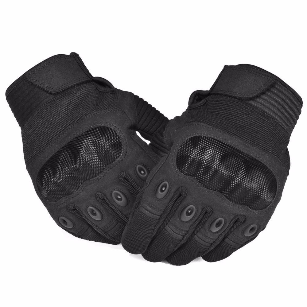 Hard Knuckle Tactical Gloves Full Finger Motorcycle Motorbike ATV Riding Gloves Army Military Combat Gloves for Men