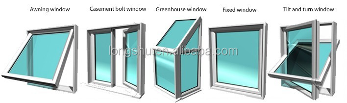 Aluminium vertical sliding window with grills design for sale