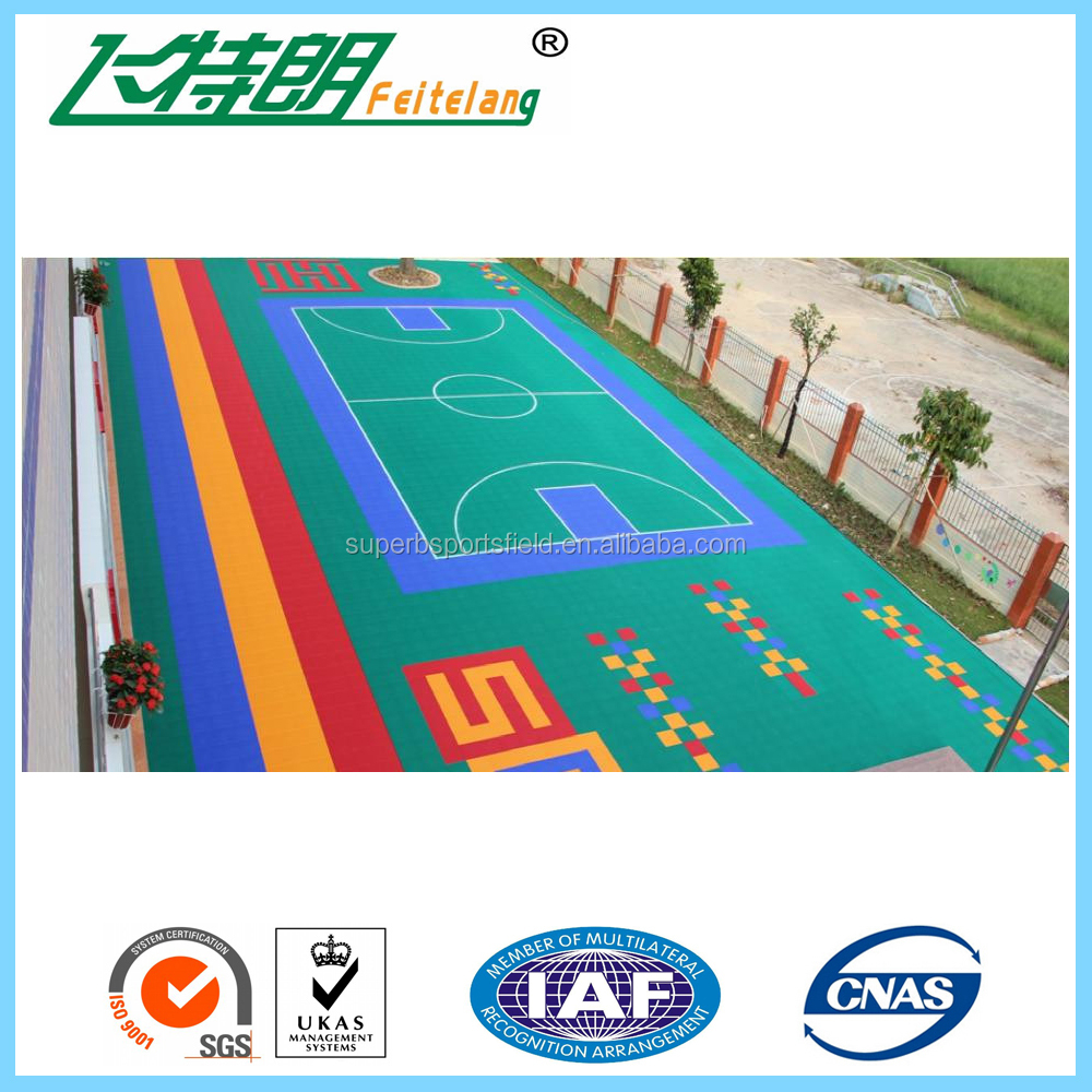 Good quality non-slip interlocking outdoor basketball floor