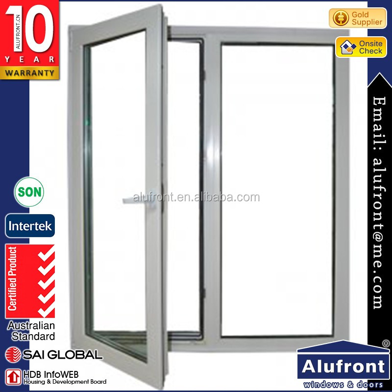 Exterior AS2047 high end double glazing american style casement windows with flscreen