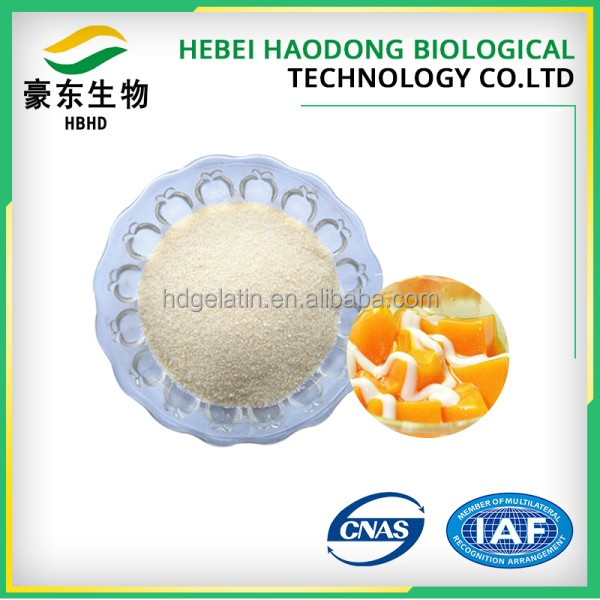 Edible grade gelatin powder as food ingredients