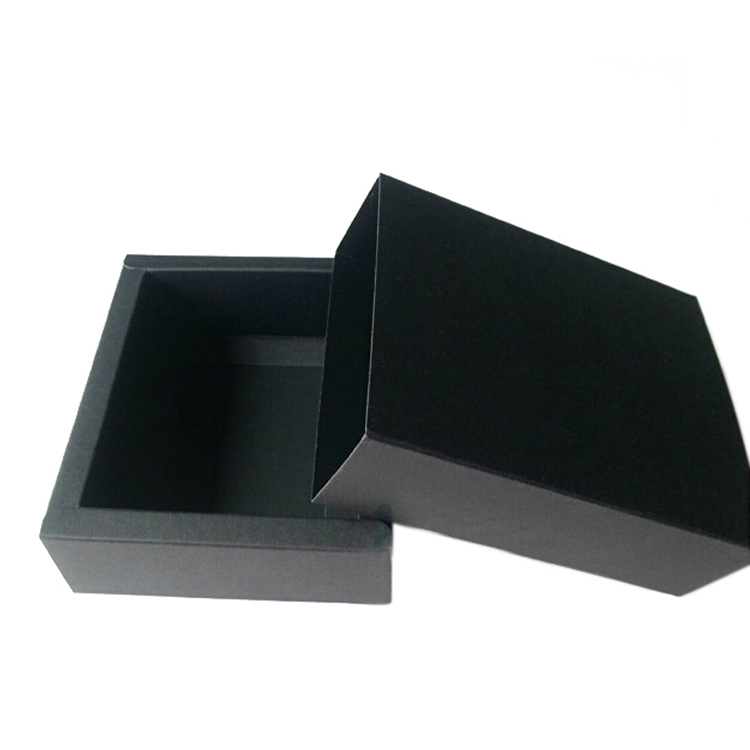 Low MOQ custom black drawer box packaging jewelry
