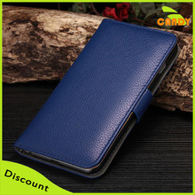 Bulk Leather PU Cell Phone Case With Card Slot, Blue Phone Cover For iPhone 6 Plus