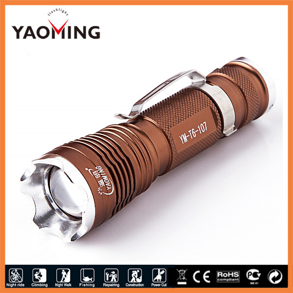 Power Torch Style Zoom <strong>CREE</strong> T6 LED Light Logo Projector Torch