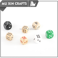 custom made round corner Wooden Playing Dices 25mm
