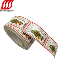 Cheap spice glass bottle label custom food labels for spice bottles