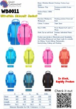 Custom Logo Screen Printing Ultrathin Skinsuit Skin Windbreaker Jacket