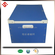 pp corflute plastic container with lid handle industrial