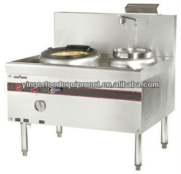 New Design 1-burner and 1-warmer Chinese Cooking Range