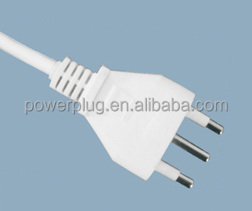 power cord Italy 3pin plug female Italy power cord with stopper IMQ certificate