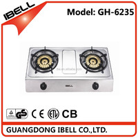 Double Burner Tabletop Biogas Cooker/Gas Stove with Low Price