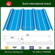 100mm profiled rigid polyurethane foam insulated sandwich wall panels from china supplier