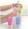 Convenient eco-friendly fda food grade rubber silicone squeeze travel bottles