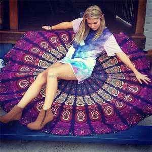 Womens amazon hot sale Bohemian Mandala Round Beach cover Indian Roundie Tapestry Hippie Throw Yoga Mat Towel