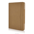 Brown Tan Leather Wallet Smart Case Cover With Sleep Wake For Apple iPad Air 2
