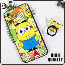 For Iphone 7,Cantoon Painting cell phone case,Arcylic Material Phone Case Hard Back Cover With Ring holder