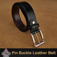 Pin Buckle Man Belt Leather