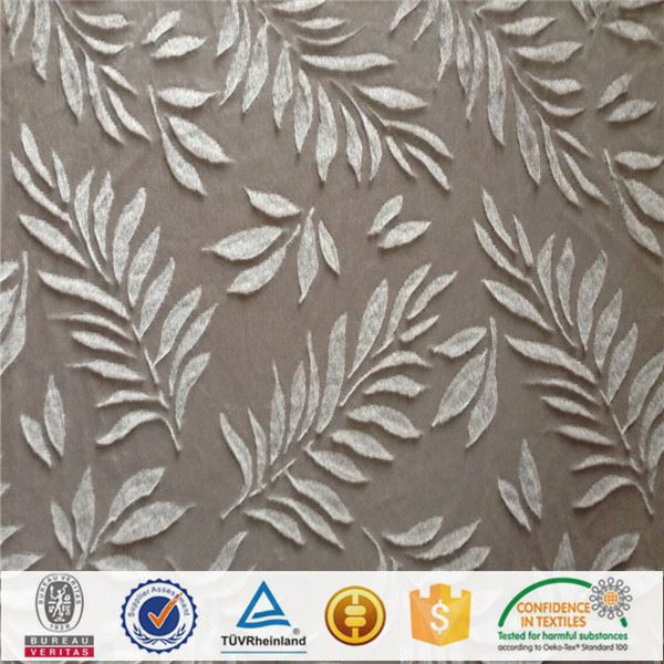 polyester flower embroidery chiffon fabric