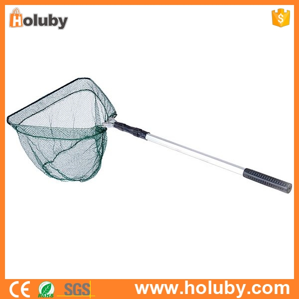 Alibaba Express Aluminum 3 Section Extending Pole Fishing Landing Net, Handle Triangular Brail Durable Folding fishing Tackle