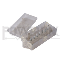 H30237 CLEAR 7 Way Trailer Wire Junction Box Camper Truck weather proof RV Light cord plug