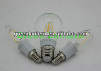 Glass Housing A60 4W 6W LED Filament bulbs cob