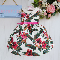 New summer Girl's skirt / dress /party dress children clothing Ethnic charm floral dress 666