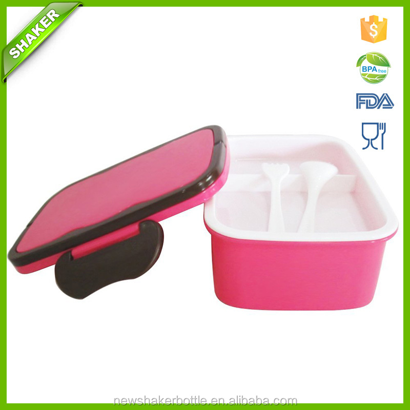 Fashion Crisper Lunch Box Plastic Outdoor Portable Microwave Lunch Boxes With Chopsticks Spoon Food Containers 1200mL